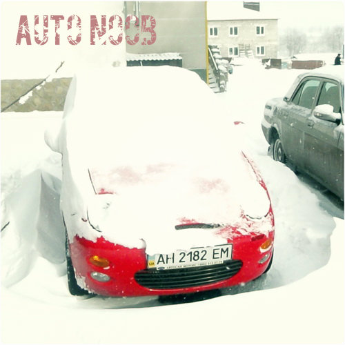 Автомобиль, занесённый снегом.